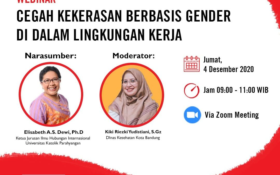 Webinar Online Cegah Kekerasan Berbaasis Gender Lingkungan Kerja