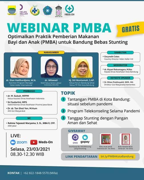 Webinar PMBA untuk Bandung Bebas Stunting